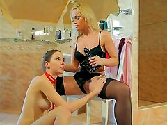 Arousing lesbian hotties Candy Sweet and Kathia Nobili are enjoying one another in softcore