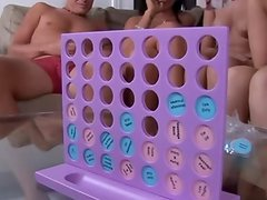 Party shagging vid close by Connect Four game for adults